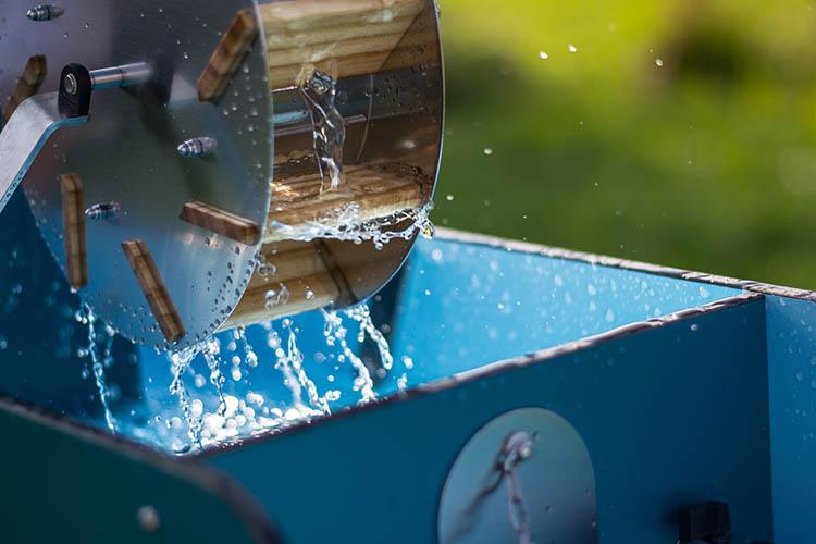 water wheel play