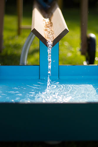 wooden water play channel