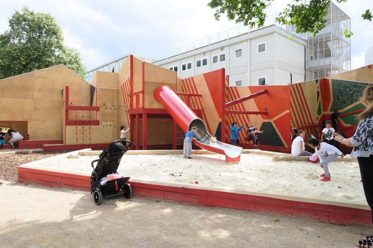 Bespoke playground equipment elephant and castle