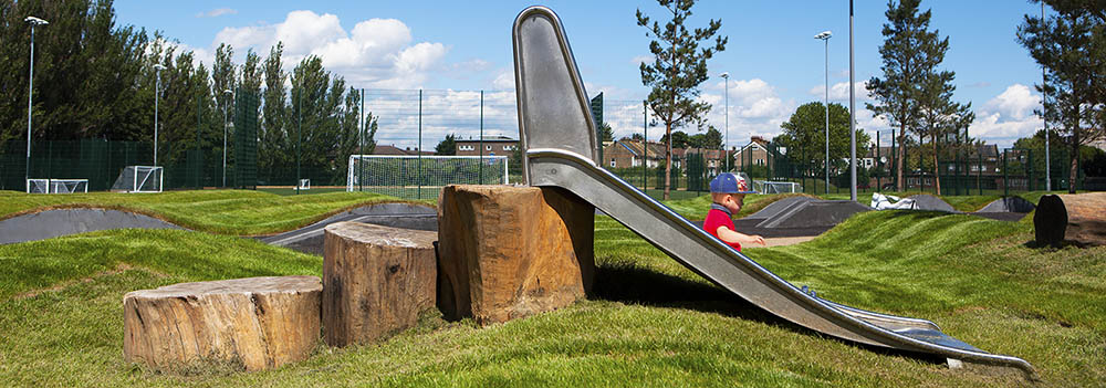 metal slides for kids photo