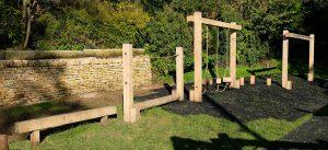 wooden trim trail equipment