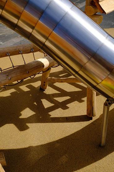bespoke primary school playground slide detail