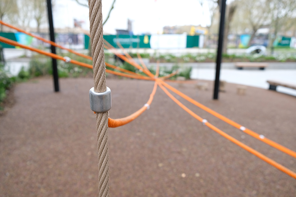custom rope climbing structure