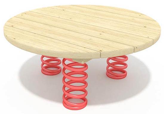 Playground spring disks