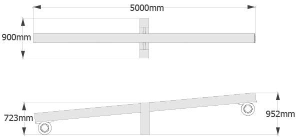 balance seesaw dimensions