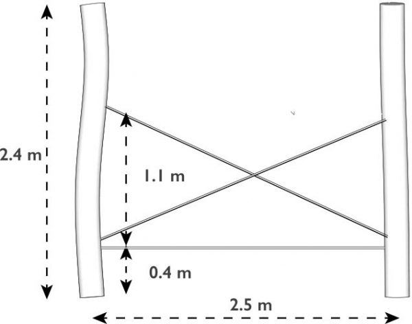 Cross Ropes dimensions