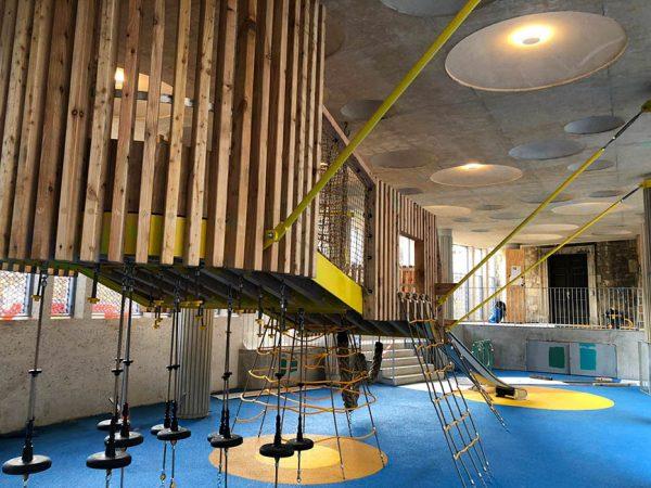 bespoke floating metal playground