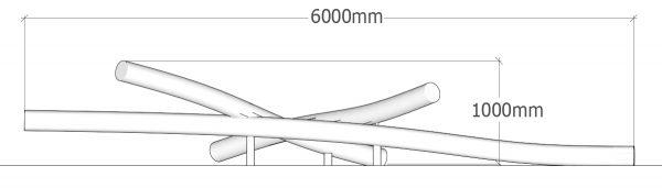 Robinia 3 Log Stack Dimensions