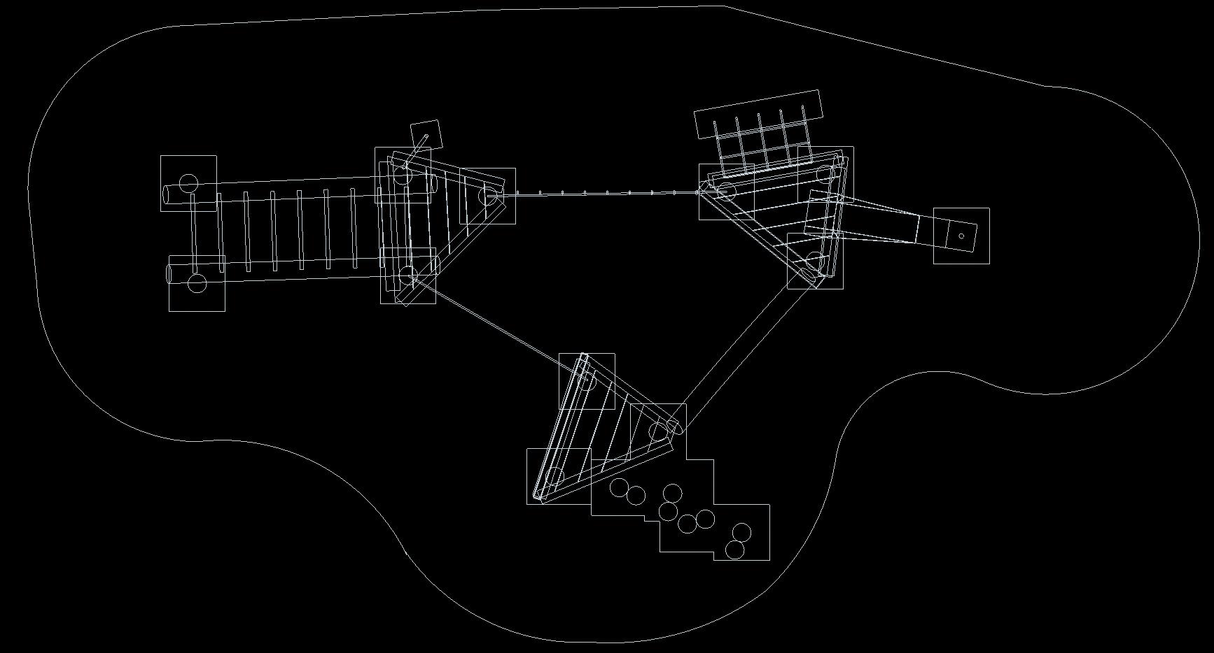 DWG Triple Platform Robinia Frame